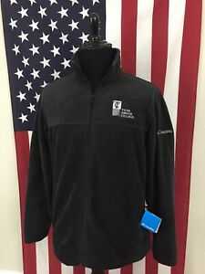 nwt-Columbia-Fleece-Full-Zip-Flanker-Jacket-mens-LARGE-Tyler-Junior-College-9247