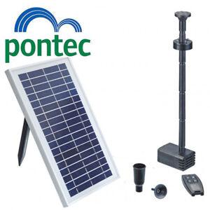 Pontec-pondosolar-Bassin-Solaire-Pompe-De-Fontaine-amp-Eclairage-DEL-600-amp-Telecommande