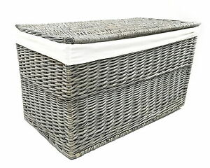 Image Is Loading Grey Wicker Or Tapered Baby Nursery Storage Basket