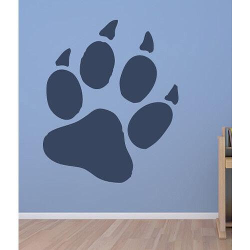 Bear Paw Print Wall Sticker Wild Animals Wall Decal Kids Bedroom Home Decor