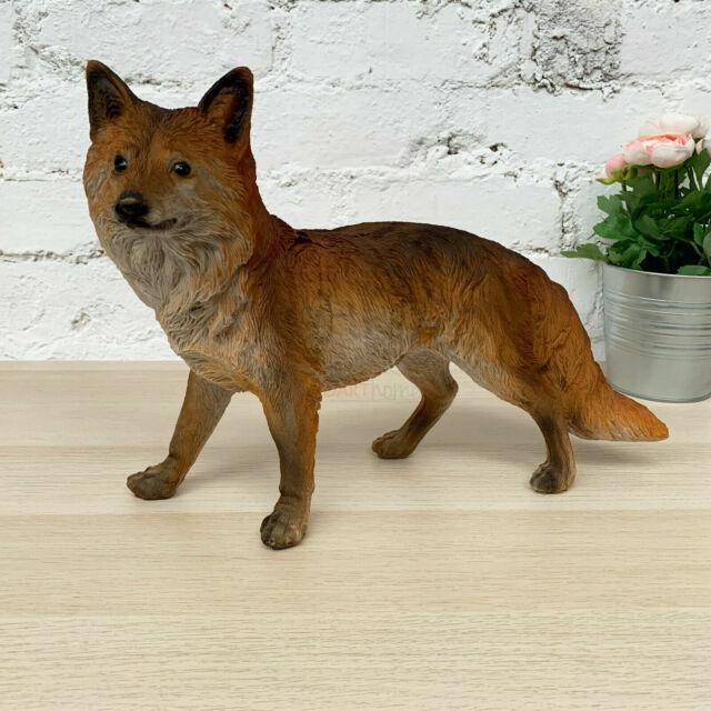 FOX FIGURE FIGURINE FOX FAMILY PAIR OF FOXES  GARDEN FOX ORNAMENT GIFT FOX
