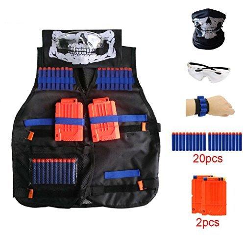 Zubehör mit 80 D 2er Kinder Jacke für N-Strike Gafild Nerf Taktische Weste Kit