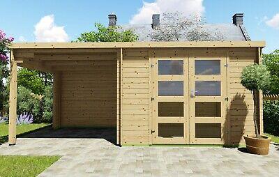 Gartenhaus Flachdach 28mm Geratehaus Holz Anbau 3x2 4 2 4m Harz Eb28236ofl Ebay