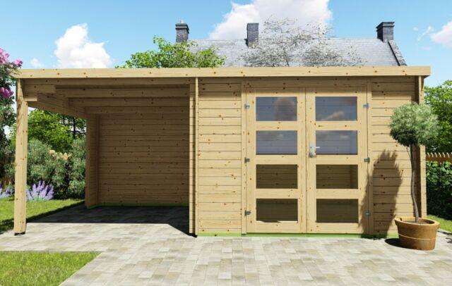 Flachdach Geratehaus Mit Boden Aus Holz 3x2 4 2 4m Gunstig Kaufen Ebay