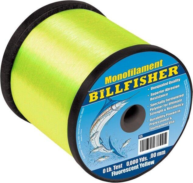 nuovo Billfisher Bulk Mono 2Lb Spool 20Lb 6800Yds Flourescent gituttio SS2F20