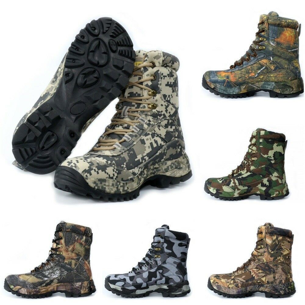 Camouflage Outdoor Hiking Sneakers Men Waterproof Military Desert Hiking Boots