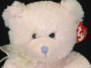 LOVE TO MOM MOTHER'S DAY TY BEANIE BUDDY PINK HEART PLUSH STUFFED ANIMAL BEAR