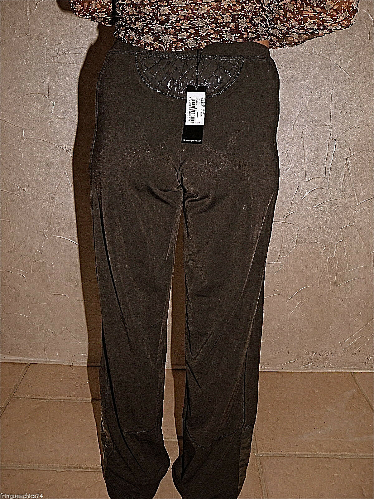 Pretty trousers strechy vinyl ash MC PLANET size 38 fr 42I NEW LABEL