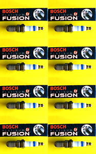 New SET OF 8 BOSCH Platinum+4 Spark Plugs 4504 Made in Germany