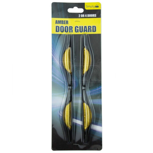 Amber Car Door Protectors Reflectors Door Guards Prevent Scratches Protect Edges
