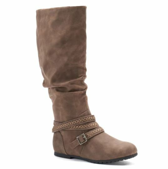 SALE NWT Women's SO Site Knee High Boots shoes Choose Size Mushroom