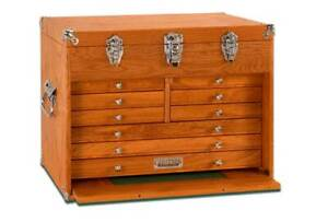 Gerstner-International-GI-T20-9-Drawer-Oak-Veneer-Chest-Tools-Hobby-FREE-SHIP