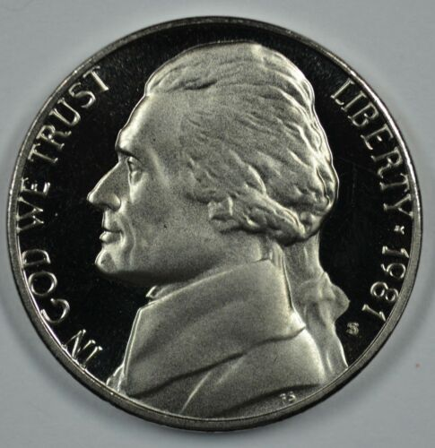 "1981-S Type 2 Clear /""S/"" Proof Jefferson Nickel Priced Right THIS IS RARE!"