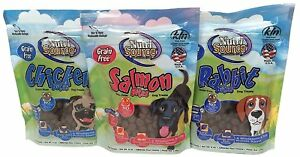 Grain-Free-Dog-Treats-Soft-Bites-3-Flavor-Bundle-Rabbit-Salmon-Chicken-6-oz-each