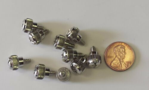 Lot 10 Lot 10 speed screws Thumb screws for CPU case fast screws silver color
