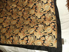 RAYMOND WAITES PAISLEY JACOBEAN FLORAL QUEEN COMFORTER COTTON SATEEN INDIA EUC!