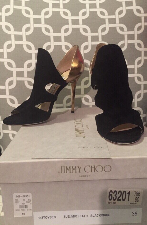 New in Box  Jimmy Choo Toysen d'Orsay Leather Bootie Pump - size 8 38