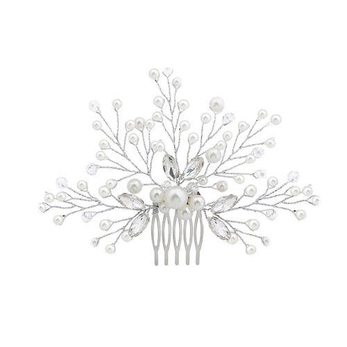 EG/_ LX/_ Wedding Bridal Bridesmaid Faux Pearl Hair Pin Clip Rhinestone Comb Headw
