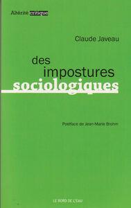 Des Impostures Sociologiques Claude Javeau Sociologie Livre