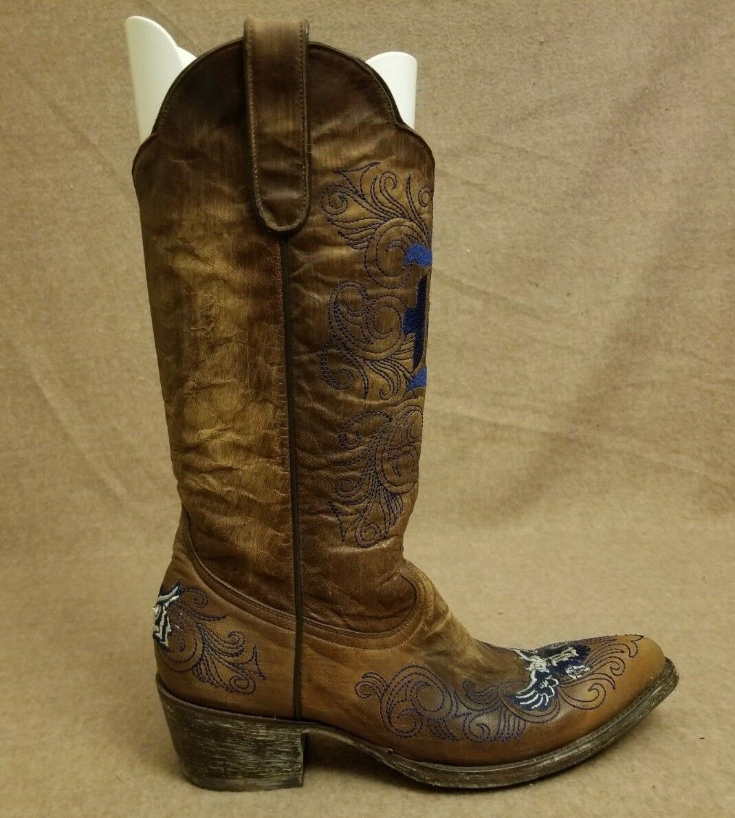 Gameday damen Western Rice University Owls braun Leather Cowboy Stiefel Größe 8 B
