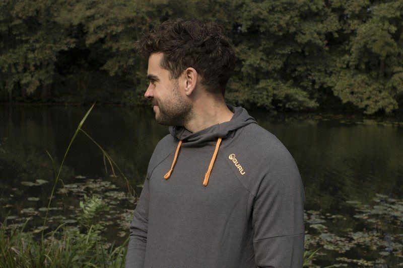 GURU Lite Felpa con cappuccio Charcoal tutte le taglie disponibili Match Basso Pesca Abbigliamento
