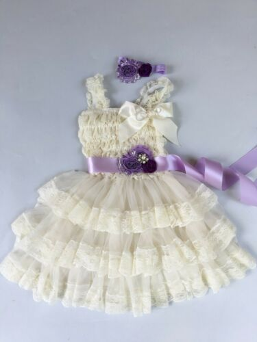 Girl Dress girl Lace dress Baby Lace Dress-Rustic-Country ivory dress all sizes