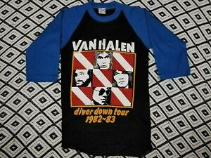 Vtg 80 S Van Halen T Shirt Diver Down Concert Tour Lot Tee Rare Raglan Unworn Ebay