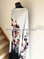 Summer Moonlight Botanical Flora/Flower Scuba Stretch Jersey Dressmaking Fabric