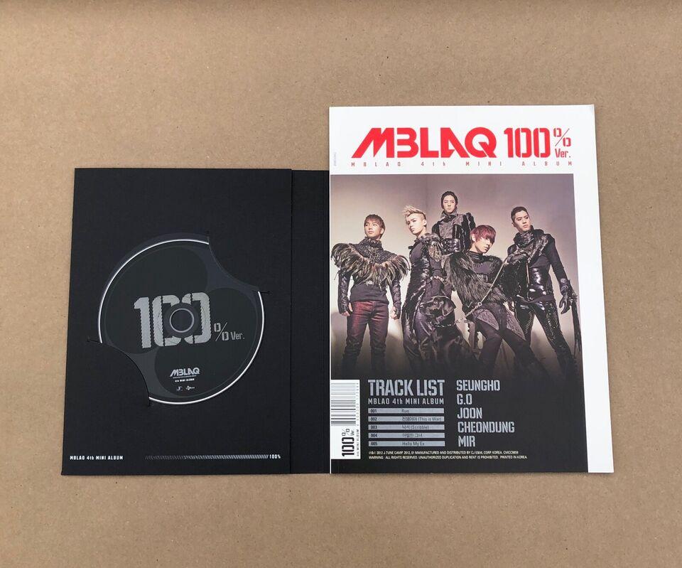 MBLAQ: Mini Album Vol. 4 - 100% Ver., pop