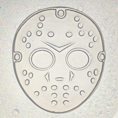 "Flexible Resin Or Chocolate Mold Jason Hockey Mask Mould 2.5/"" x 1//4/"" deep"