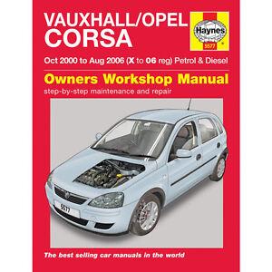 vauxhall opel corsa 1 0 1 2 1 4 petrol 1 3 1 7 diesel 00 06 haynes rh ebay co uk Opel Corsa Bakkie Opel Corsa Trunk Space