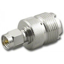 SMA Male to SO239 Adapter / PL259 UHF Female (SO239-F) Antenna RF Adapter