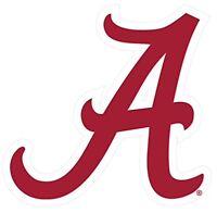 University Of Alabama Crimson Tide Large Logo A Decal Cornhole Auto