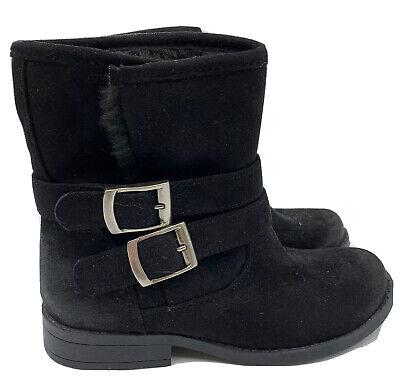 Target black suede looking buckle boots