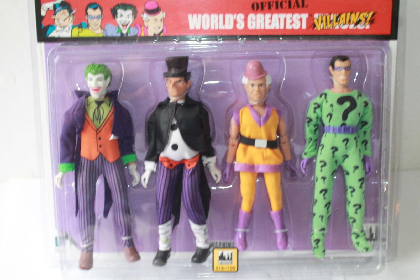 Retro - mego wgsh schurken; joker riddler, pinguin, mxyzptlk; 8 zoll zahlen