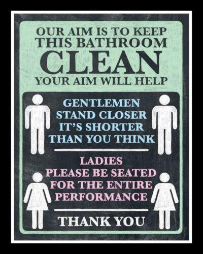 """10/"""" x 8/"""" notre objectif est de garder la salle de bain Clean Loo Toilettes Plaque métal signe 147"""