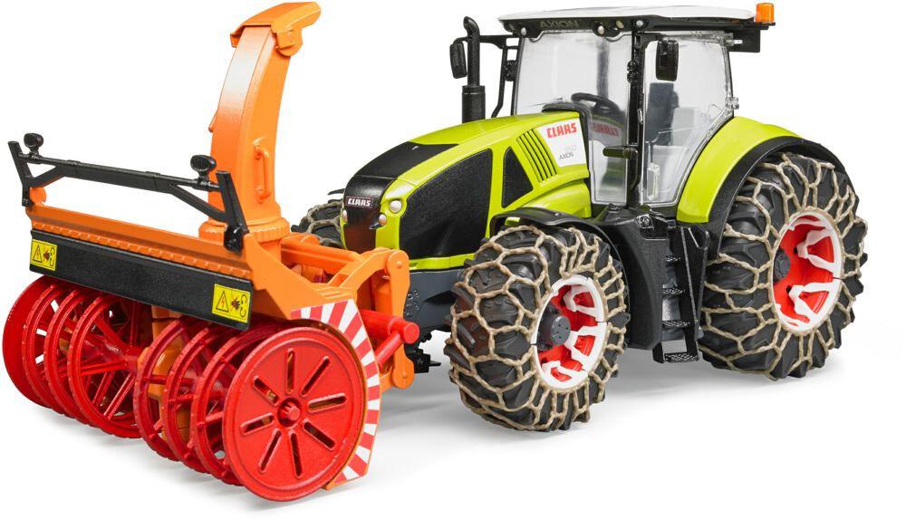 BRU3017 - Tracteur CLAAS AXION 950 équipé d'une fraise à neige et des chaines à