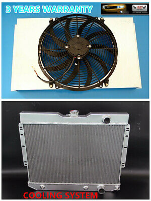 "ALUMINUM RADIATOR FAN SHROUD W// 2000 CFM 12/"" FANS 1959-1965 CHEVY IMPALA GM CARS"