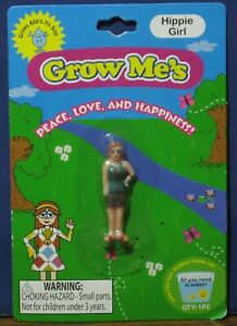 Grow-Me-039-s-Hippie-Girl-Mini-Figure-Grows-in-Water-Shrinks-when-Dry-New