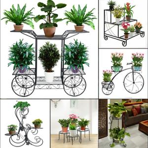 Image Is Loading Metal Shelves Flower Rack Pot Plant Stand Display