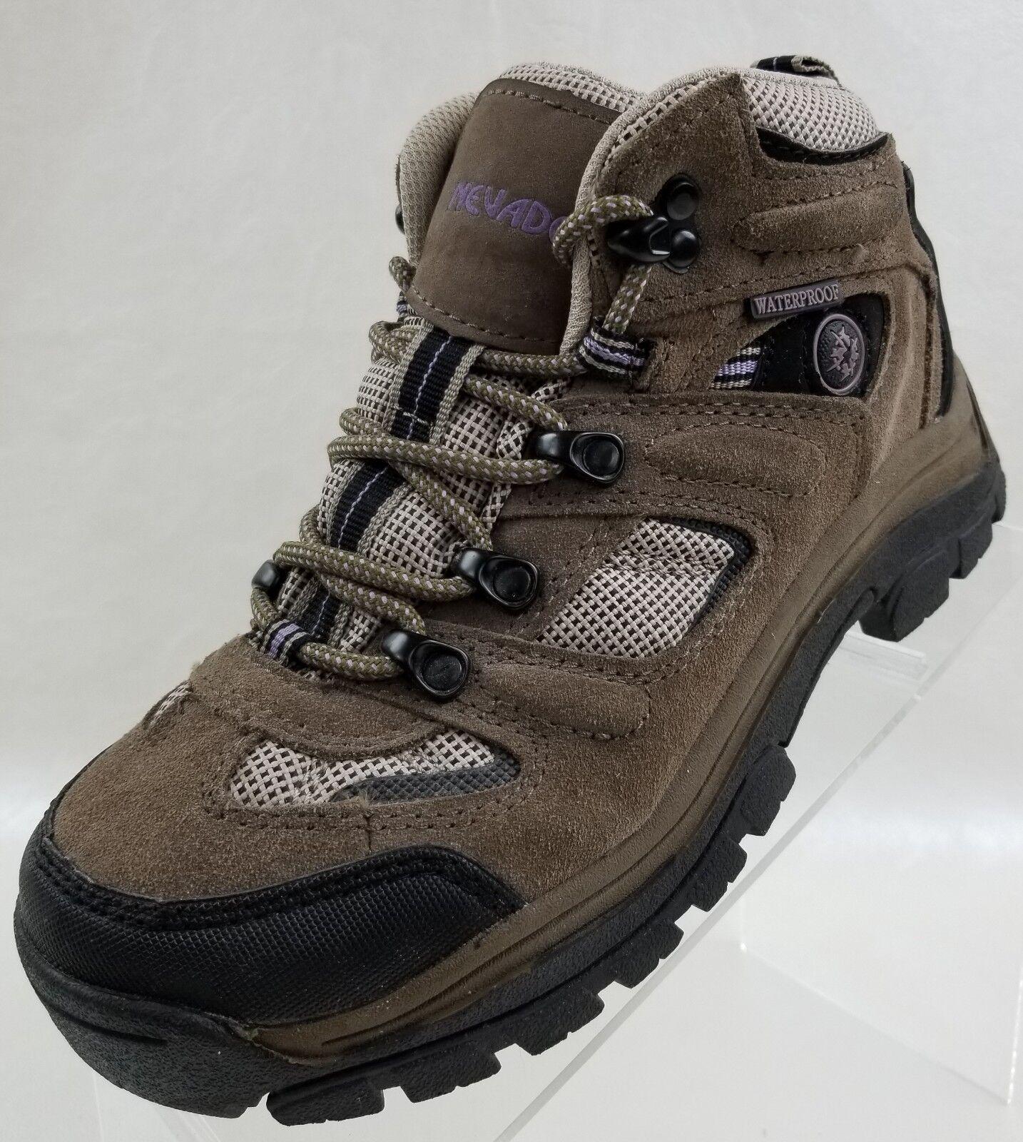 Nevados Bottines Klondike Imperméable Randonnée Taupe Lacets Chaussures sz 6.5