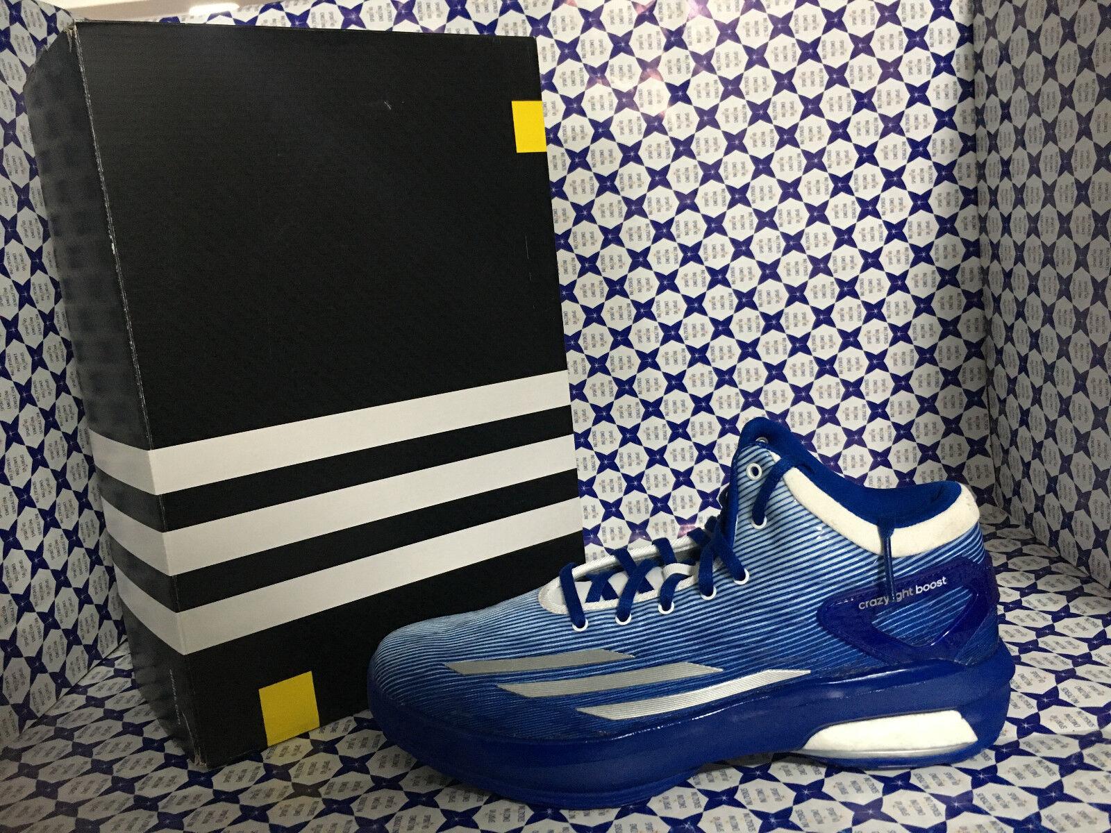 Scarpe Adidas Basket Uomo - Crazylight Boost  SCONTATE - Royal Bianco - C77248 Scarpe classiche da uomo