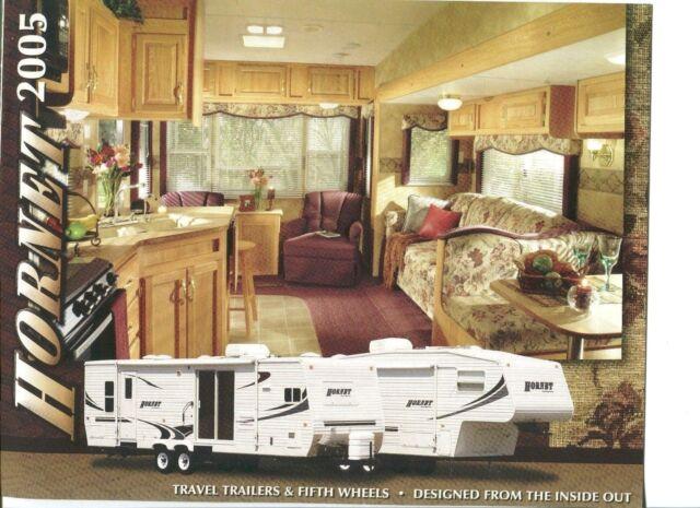 HORNET TRAVEL TRAILERS & FIFTH WHEELS 2005 Sales Brochure NM