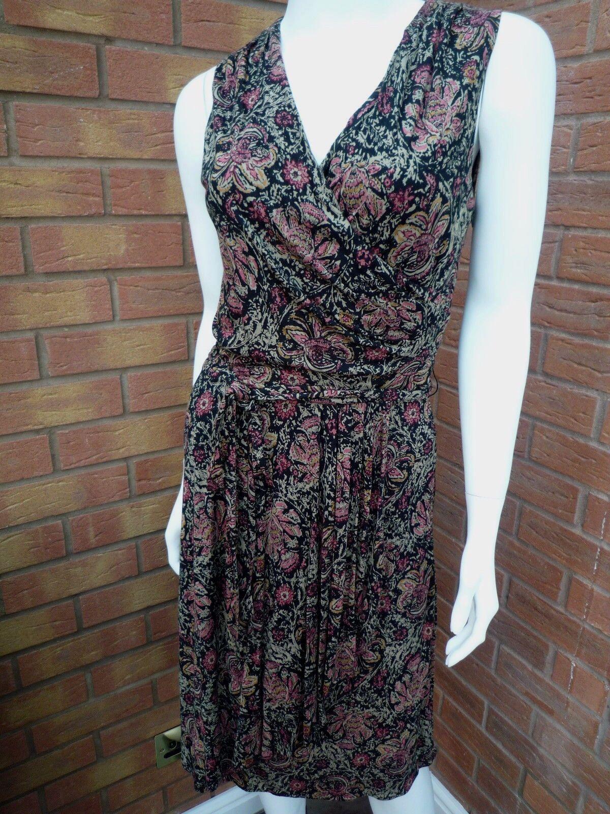 RALPH LAUREN FLORAL SLEEVELESS RUFFLE DRESS RETAIL  Größe XS   UK 8