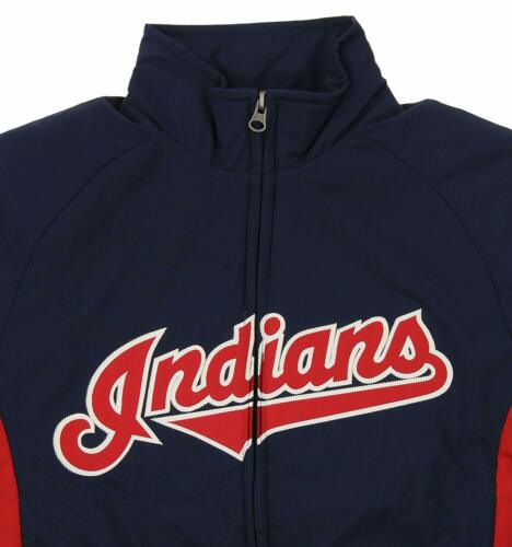 Majestic MLB Youth Cleveland Indians Double Climate Full Zip Jacket