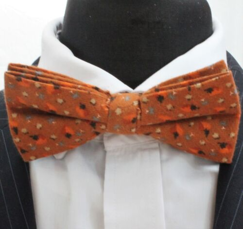 Cotton  Premium Quality Bow Tie Pre-Tied BV161 Rust Brown // Orange flecked