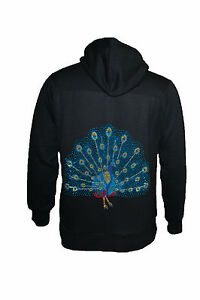 Womens-Hoodies-Ladies-Studded-Peacock-Skull-Cross-Warm-Jacket-Plus-Size-Nouvelle