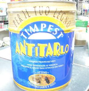ANTITARLO TIMPEST LT 2,5 CONTRO LE TARME DEL LEGNO FINESTRE PORTE ...