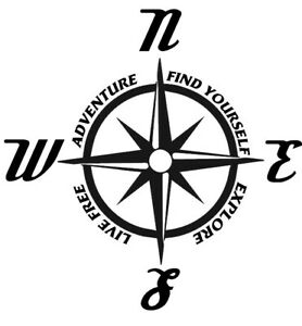 Adventure-Compass-decal-Window-decal-Laptop-decal-Car-decal-Truck-Decal