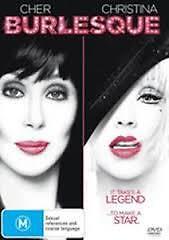 Cher-Burlesque-Christina-Aguilera-Region-4-DVD-VGC